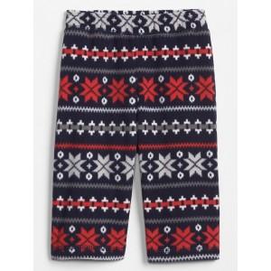 Print Microfleece Pajama Pants