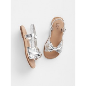 babyGap Metallic Bow Sandals