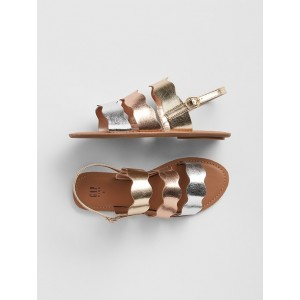 Kids Metallic Strappy Sandals