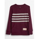 Chest Stripe Crewneck Pullover Sweatshirt