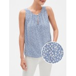 Button Tank Top in Weave