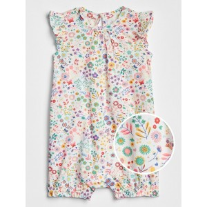 Baby Floral Ruffle Shorty One-Piece