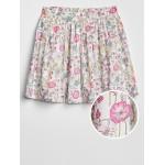 Shirred Floral Skirt