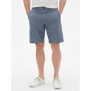 10&#34 Shorts in Chambray
