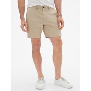 7&#34 Lived-In Khaki Shorts with GapFlex
