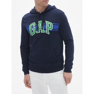 Chest-Stripe Arch Logo Pullover Hoodie