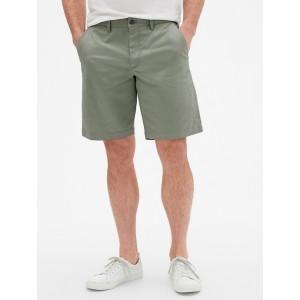 10&#34 Lived-In Khaki Shorts with GapFlex