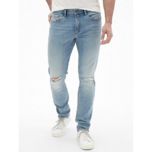 Skinny Fit Jeans in Distressed with GapFlex