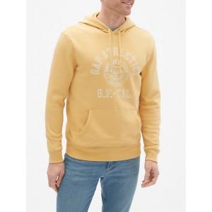 Athletic Logo Pullover Hoodie Sweatshirt