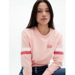 Contrast-Stripe Logo Pullover Sweatshirt