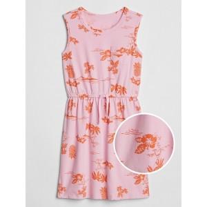 Kids Print Pocket Tank Dress