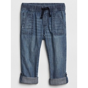 Toddler Pull-On Roll-Up Jeans