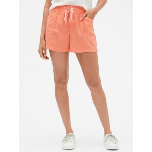 3.5&#34 Pull-On Shorts in Linen-Rayon