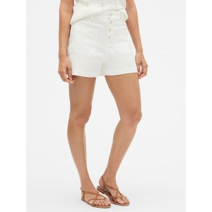 High Rise 3&#34 Button-Fly Shorts
