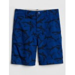 Flat Front Shorts in Twill