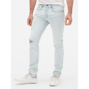 Wearlight Distressed Skinny Jeans with GapFlex