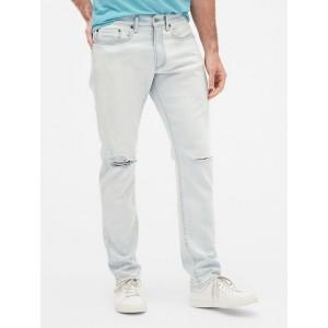 Wearlight Distressed Slim Jeans with GapFlex
