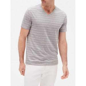 Everyday Stripe V-Neck T-Shirt in Jersey