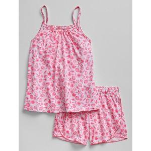 Kids Shell Print Cami Short PJ Set