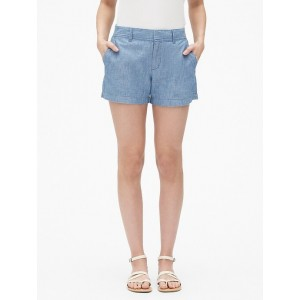 Mid Rise 3&#34 City Shorts in Chambray