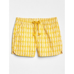 Kids Pull-On Shorts in Twill
