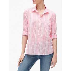 Stripe Boyfriend Popover Shirt