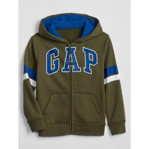Kids Contast-Stripe Gap Logo Zip Hoodie