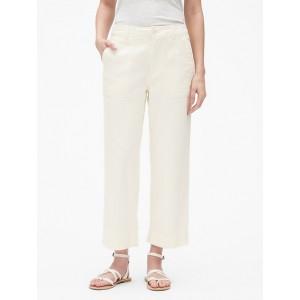 High Rise Straight Crop Pants