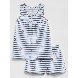 Kids Floral Stripe Short PJ Set
