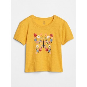 Toddler Embellished Crewneck Graphic T-Shirt
