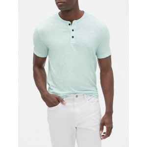 Short Sleeve Henley T-Shirt