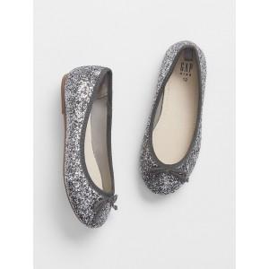 Kids Glitter Ballet Flats