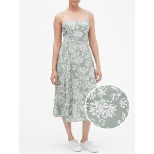 Print Fit and Flare Cami Midi Dress