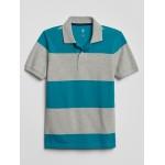Kids Stripe Pique Polo