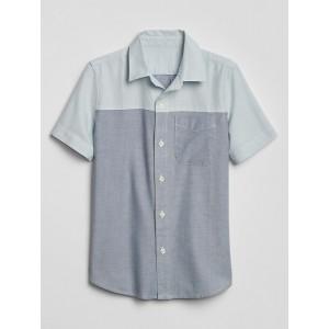 Kids Colorblock Short Sleeve Oxford Shirt