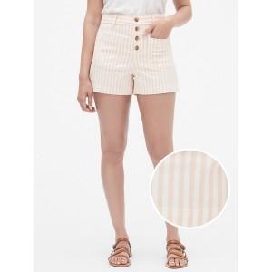 3&#34 Button-Fly Stripe Shorts