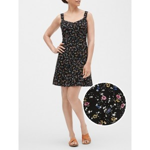 Print Fit and Flare Dress