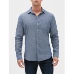 Standard Fit Shirt in Linen-Cotton