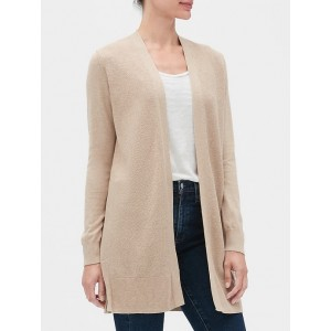 Longline Open-Front Cardigan Sweater