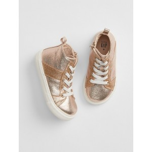 Toddler Metallic Hi-Top Sneakers