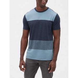 Stripe Short Sleeve Crewneck T-Shirt