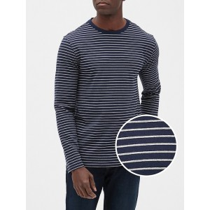 Stripe Long Sleeve Crewneck T-Shirt