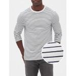 Stripe Long Sleeve Crewneck T-Shirt