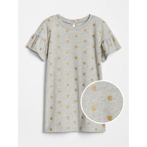 Toddler Print Bell-Sleeve Dress