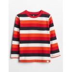 Toddler Stripe Long Sleeve Pocket T-Shirt