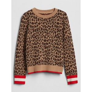 Kids Pattern Pullover Crewneck Sweater