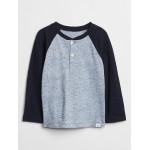 Toddler Colorblock Long Sleeve Henley T-Shirt