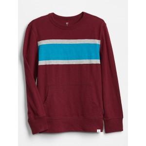 Kids Chest Stripe Long Sleeve T-Shirt