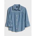 Kids Ruffle Chambray Shirt