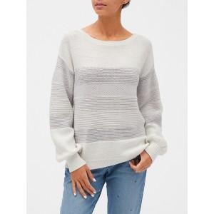 Mix-Stitch Boatneck Sweater